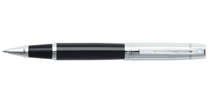 SHEAFFER 300 ROLLERBALL CT GLOSSY BLACK BARREL BRIGHT CHROME CAP