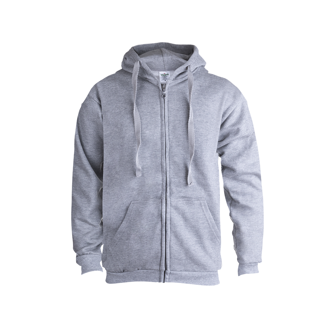 ADULT HOODED + ZIPPER SWEATSHIRT